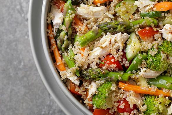 Dinner Ready in 20: Chicken and Veggie Power Bowls